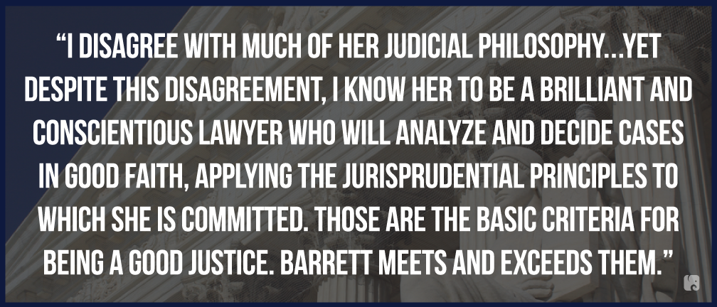 Legal Community Backs Barrett