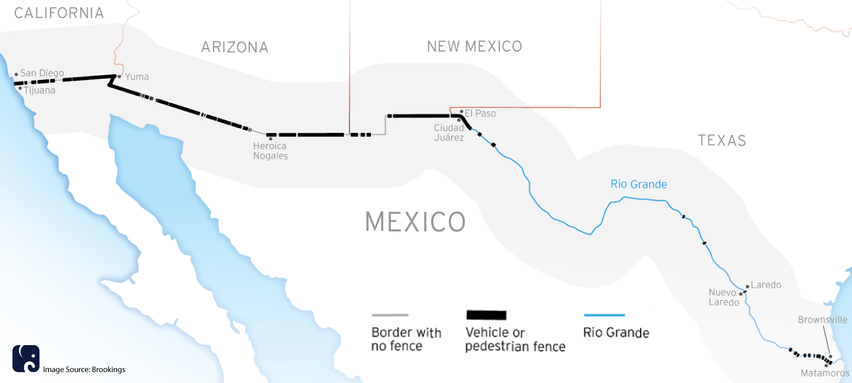 Border Wall Map