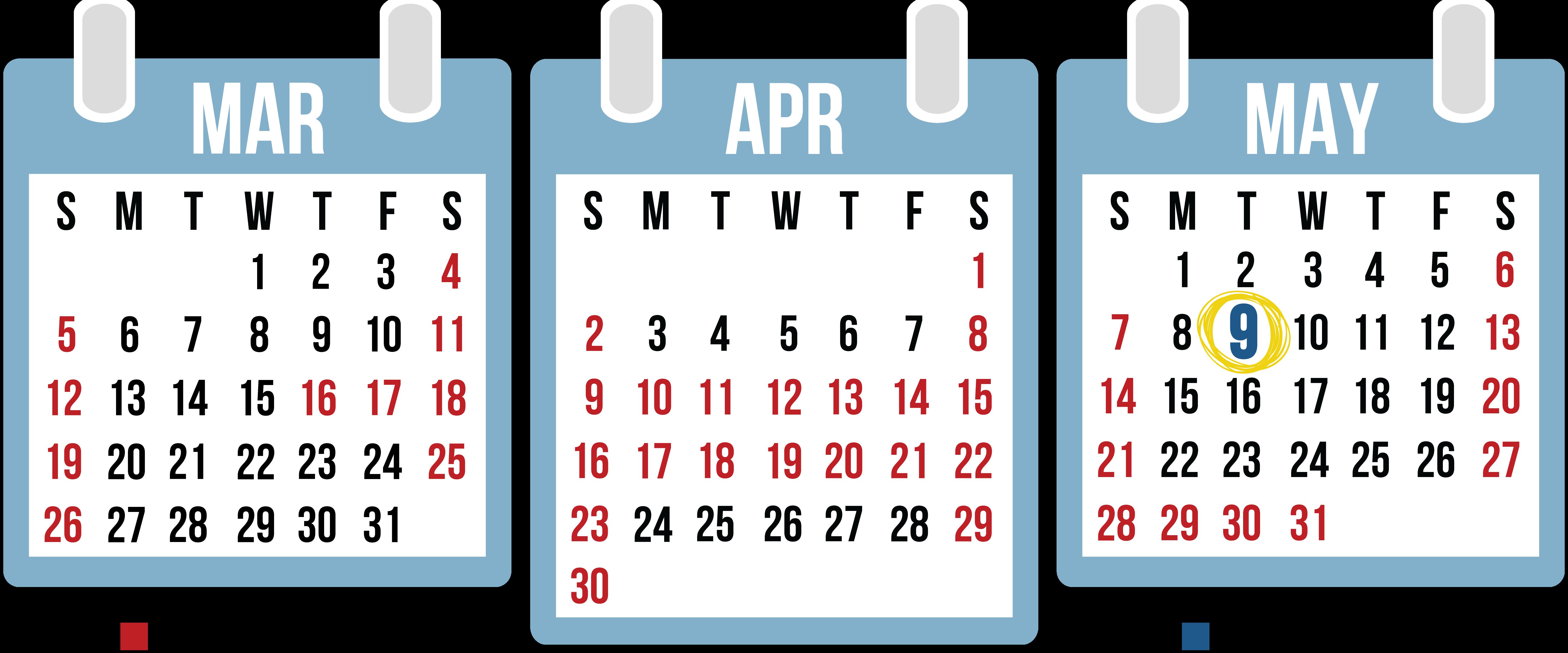 CRA Calendar Last Days
