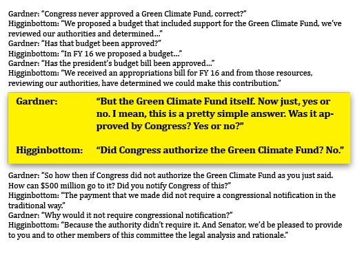 Climate Fund state department transcript