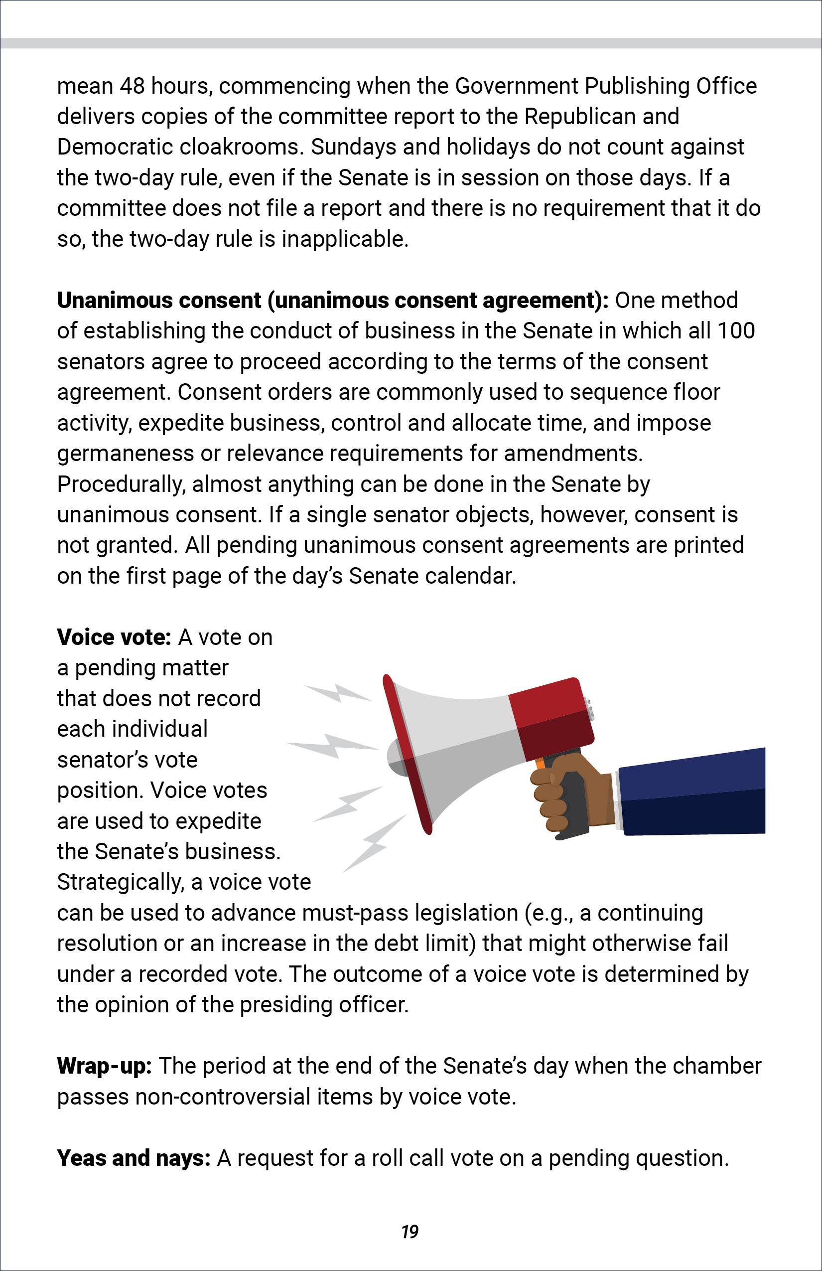 Senate Glossary of Terms
