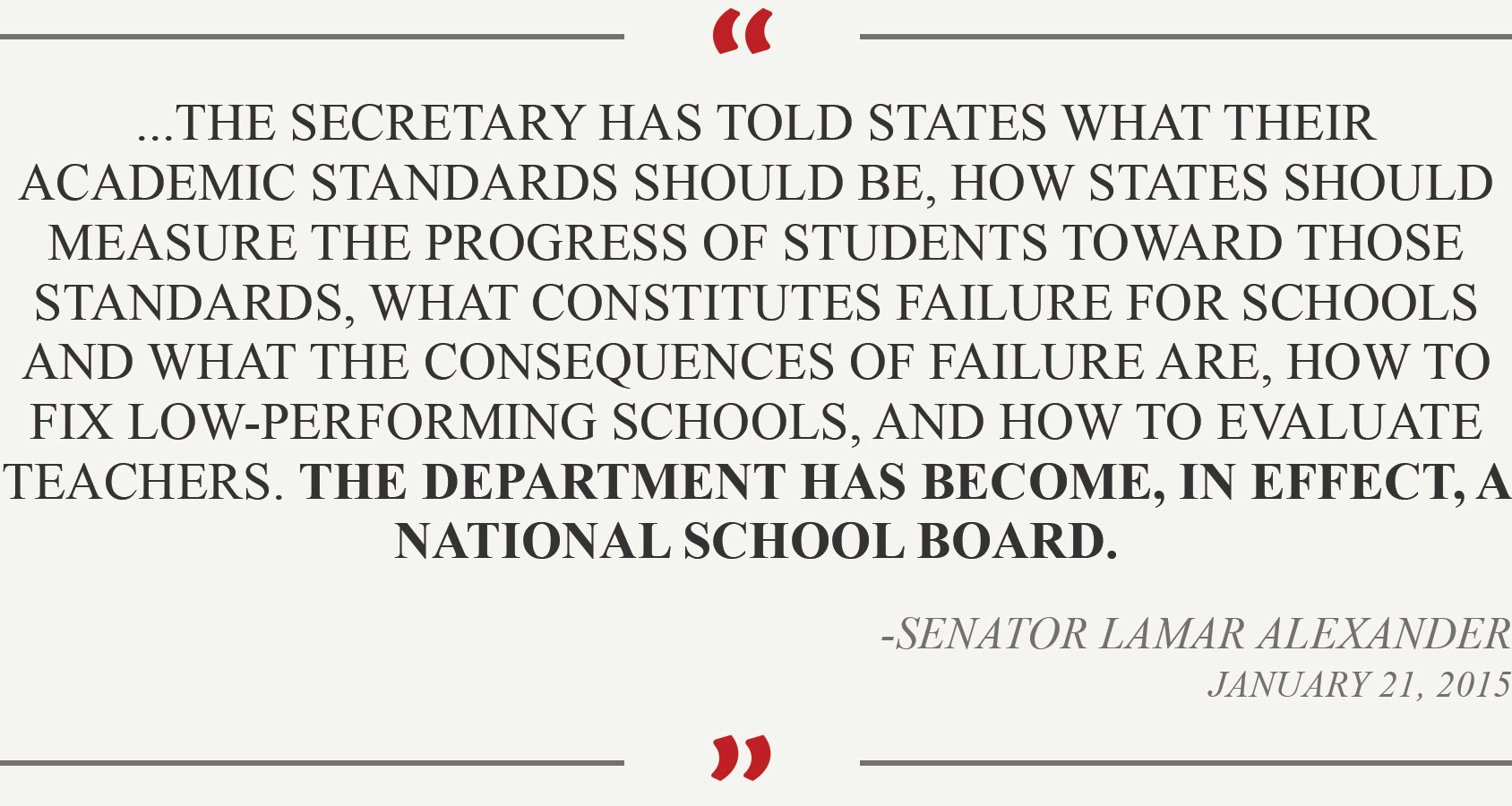 Lamar Alexander quote