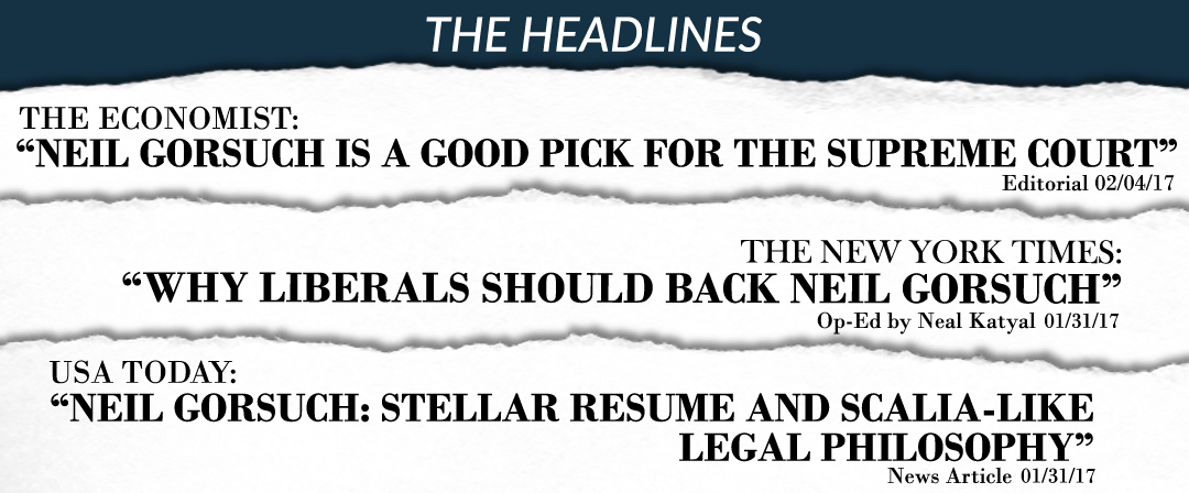 Neil Gorsuch Positive Headlines