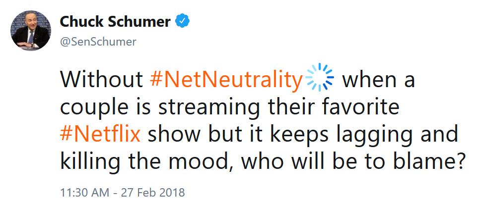 Schumer Tweet